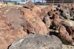 Red Lava Boulders